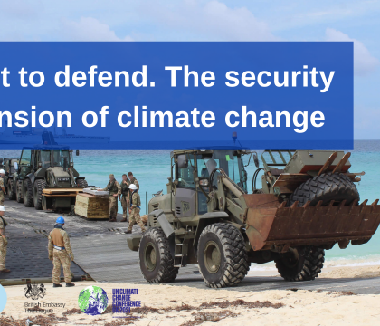 Webinar: Adapt to defend. The security dimension of climate change
